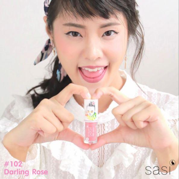 ลิปสติก-sasi-xoxo-liquid-Lip-102-darling-rose