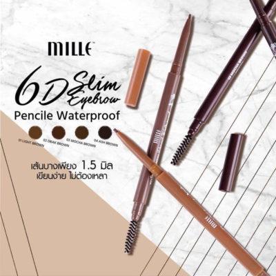 ดินสอเขียนคิ้วกันน้ำ Mille รุ่น 6D Eyebrow Waterproof